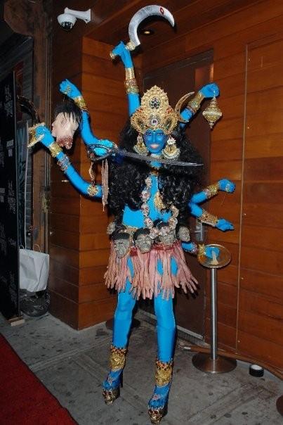 Heidi Klum as Kali the Hindu Goddess in 2008. NYC.