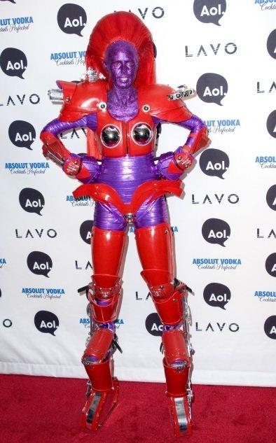 Heidi Klum as Transformers character in 2010