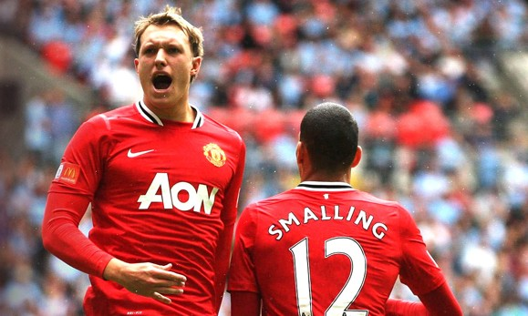 Chris Smalling and Phil Jones