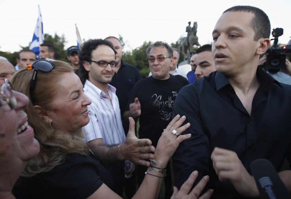 Kasidiaris, spokesman for the extreme right Golden Dawn party