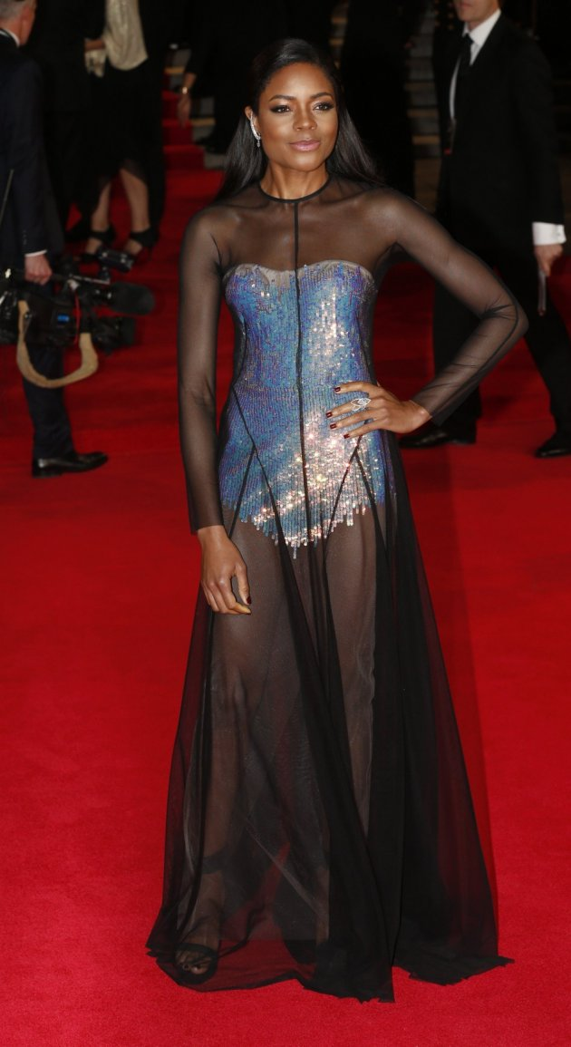 Actress Naomie Harris arrives for the royal world premiere of the new 007 film