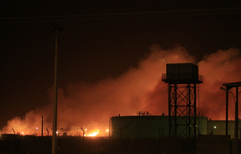 Fire engulf the Yarmouk ammunition factory in Khartoum