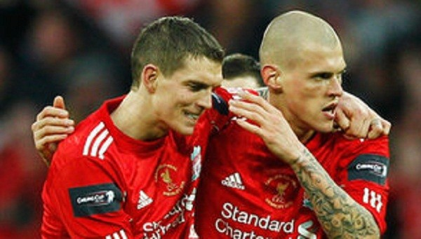 Daniel Agger and Martin Skrtel