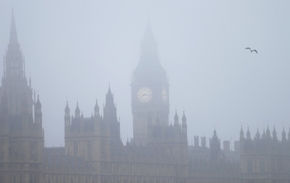 Fog of suspicion: Houses of Parliament