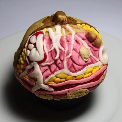 breast cupcake