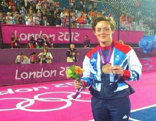 Hannah MacLeod with precious bronze