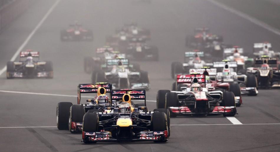 Vettel took an early lead