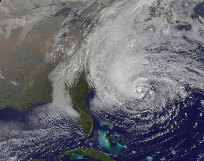 Hurricane Sandy Satellite Images