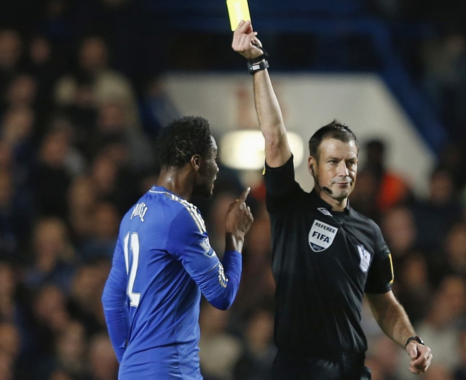 Clattenburg cautions Mikel