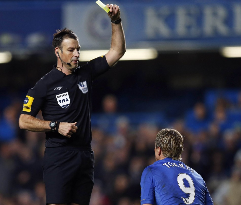 Torres received a second yellow from Clattenburg for diving