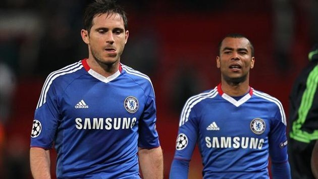 Frank Lampard and Ashley Cole