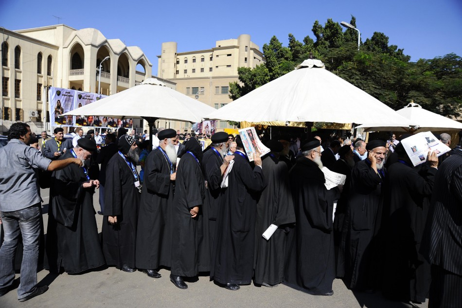 Coptic priests queue to vote