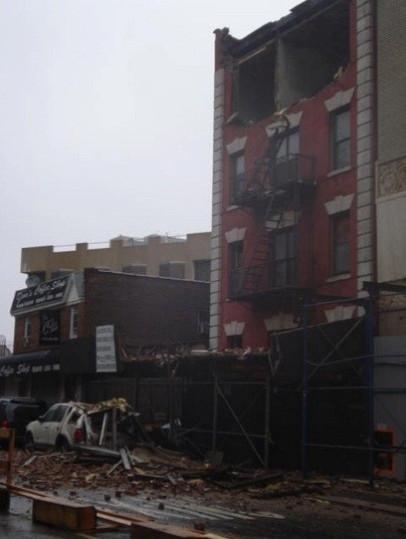 Sandy facade