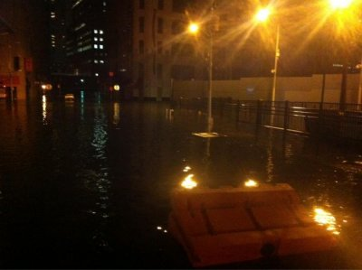 Sandy floods
