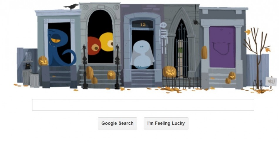 Google's doodle for halloween