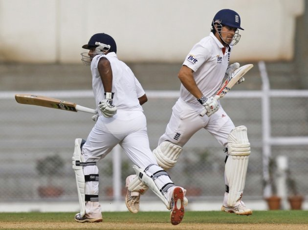 Alastair Cook and Samit Patel