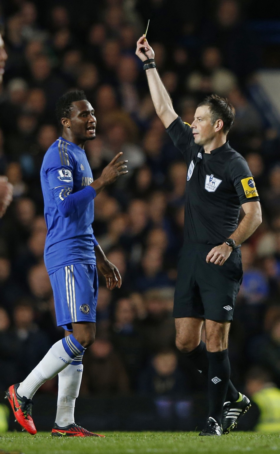 Mark Clattenburg is alleged to have made racial slurs to two Mikel and Mata during the match against Manchester United (Reuters)