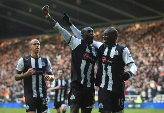 Papiss Cisse and Demba Ba