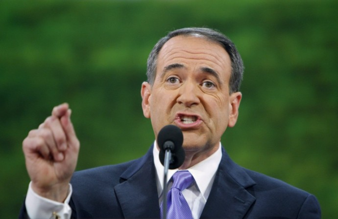 Former Republican presidential candidate Huckabee speaks during the third session of the 2008 Republican National Convention in St. Paul, Minnesota
