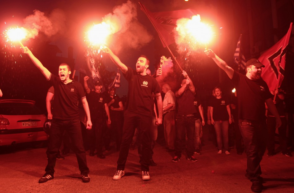 Members of extreme right party Golden Dawn