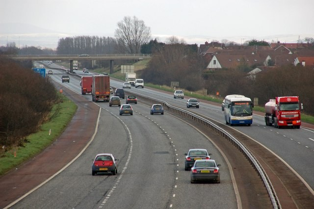 The shooting occurred on the M1 motorway between Lurgan and Portadown, in County Armagh (Wikicomms)