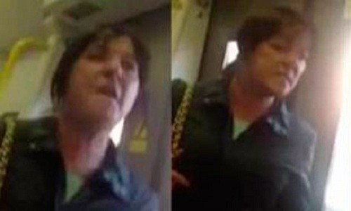 Racist Rant by Woman on Woolwich Arsenal to Abbey Wood Train