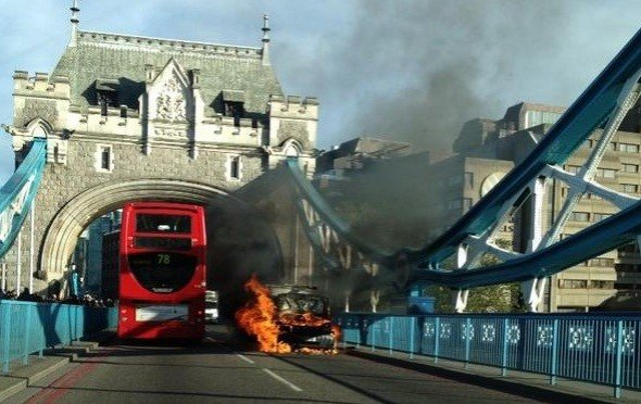 Tower Bridge van fire