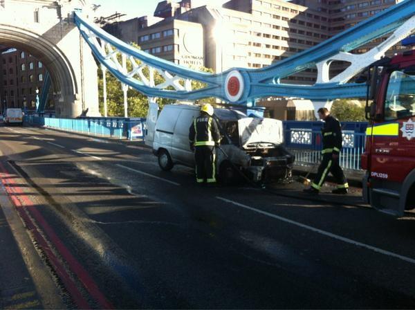 Tower Bridge van fire
