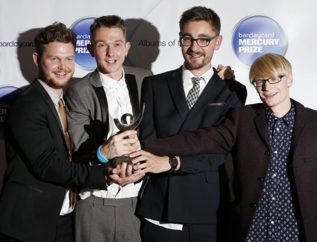 Joe Newman, Gwil Sainsbury, Thom Green and Gus Unger-Hamilton of Alt J win the Barclaycard Mercury Prize (Reuters)
