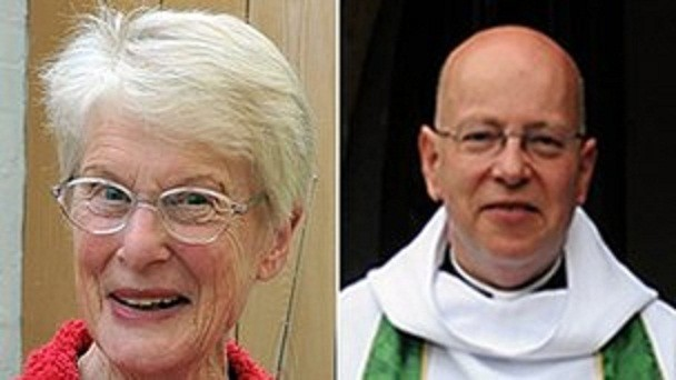 Betty Yeates (L) and Rev John Suddards