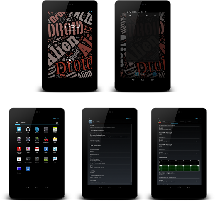 Android 4.1.1 Glazed JellyBean 2.1 ROM Released for Nexus 7 [How to Install]