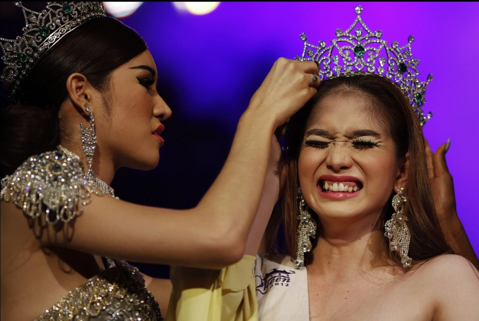 Kevin Balot is crowned winner at the Miss International Queen 2012 transgendertranssexual beauty pageant in Pattaya