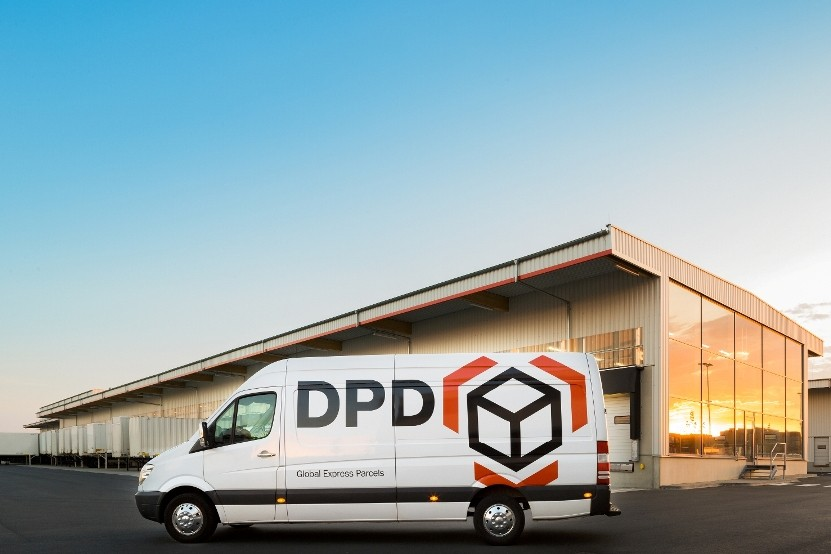 A DPD depot and vehicle
