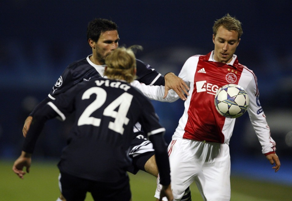 Christian Eriksen (R) vs Real Madrid
