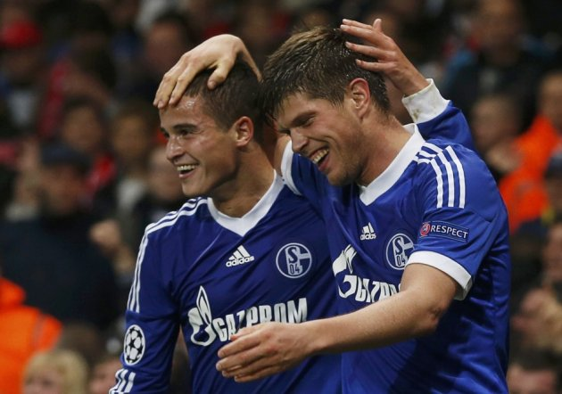 Klass Jan Huntelaar and Ibrahim Afellay