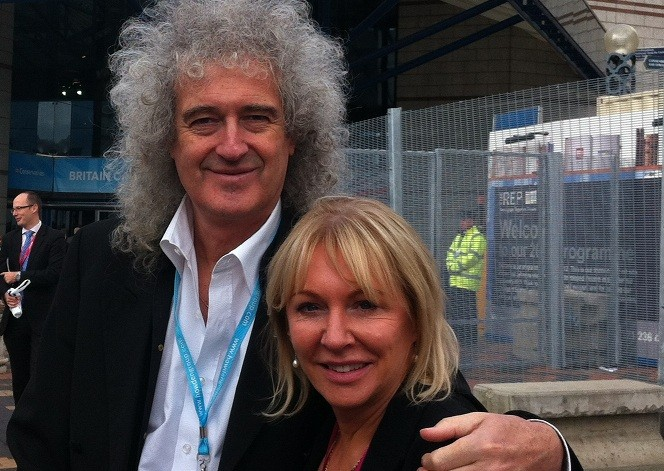 Nadine Dorries with Queen guitarist, Brian May