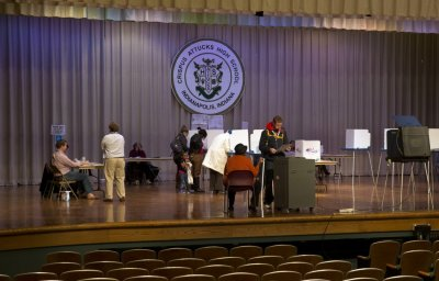 US polling stations