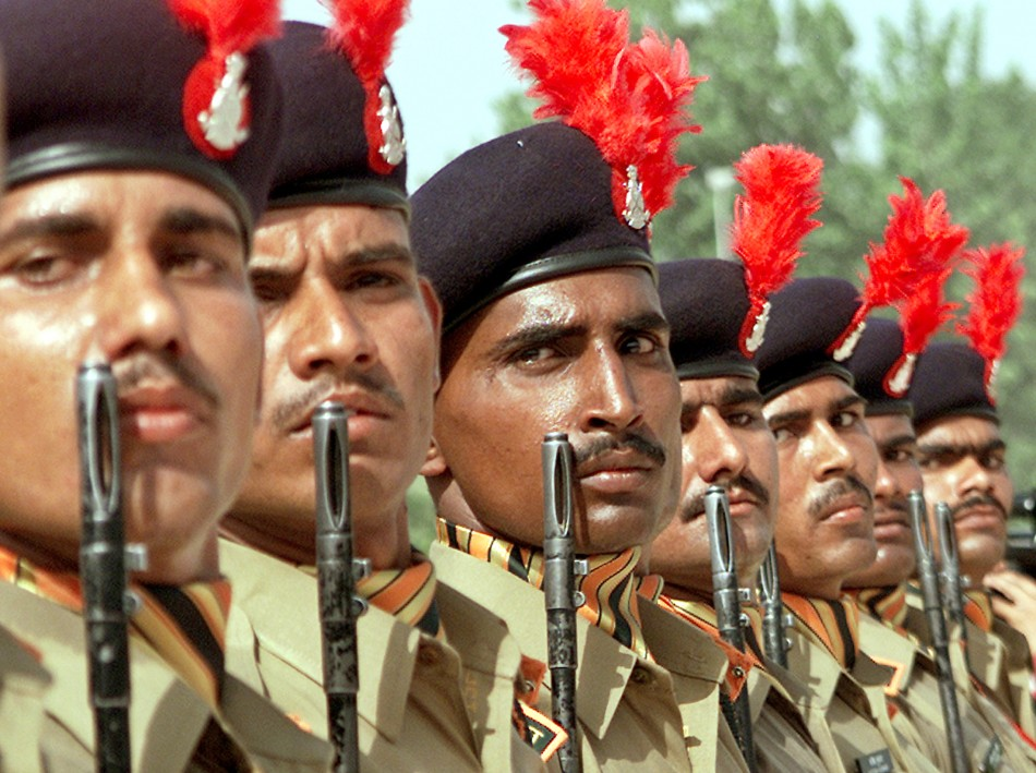 New recruits of the Indo-Tibetan Border Police (ITBP)