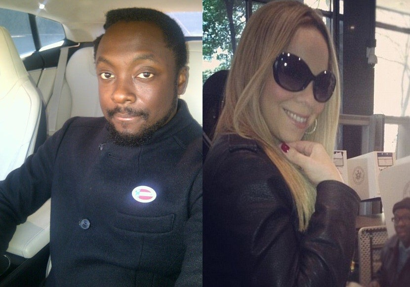 Will.i.am and Mariah Carey