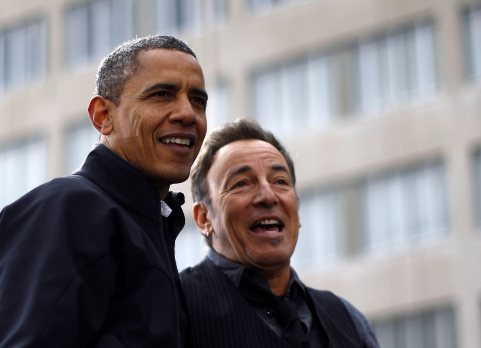 Obama and Bruce Springsteen