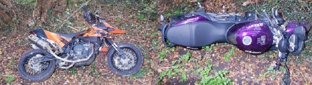 Police also released pictures of three bikes that were used during the raid (Met Police)