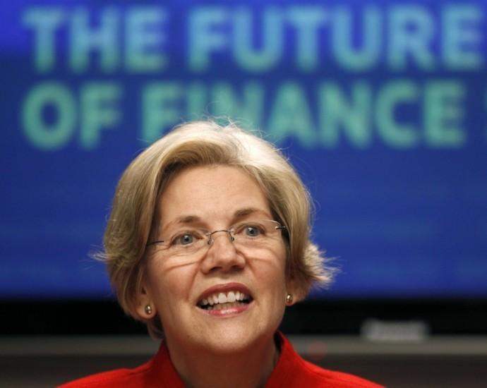 Elizabeth Warren at the Reuters finance summit in Washington