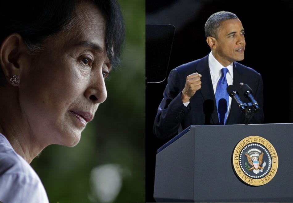 Barack Obama and Aung San Suu Kyi