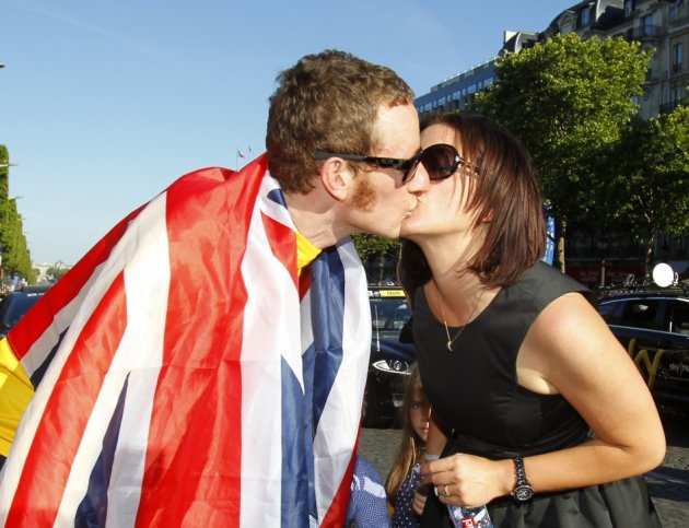 They're a team: Bradley and Catherine Wiggins