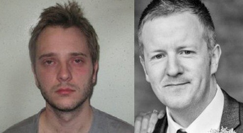 Ashley Charles (L) slashed Phillip Sherriff in the neck with a glass bottle (Met Police/ Family Handout)