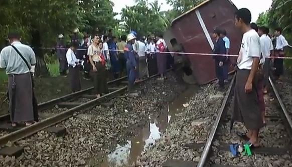 Train crash Myanmar