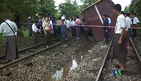 Train crash Myanmar