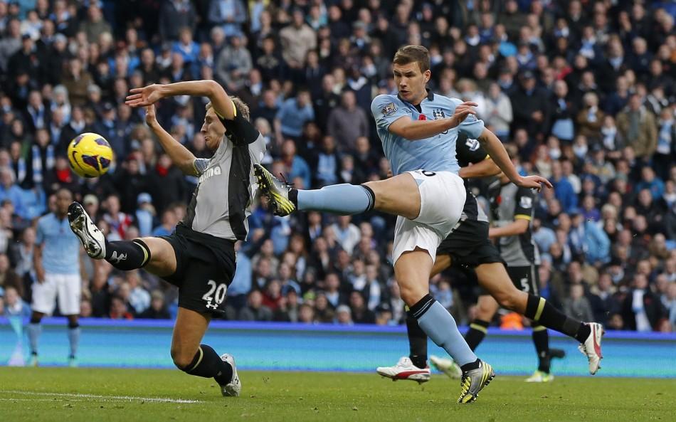 Edin Dzeko scores City's winner
