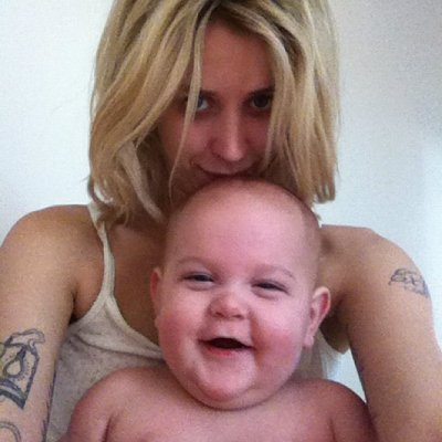 Peaches Geldof and son Astala