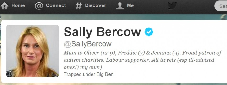 Sally Bercow's avenue for outrage